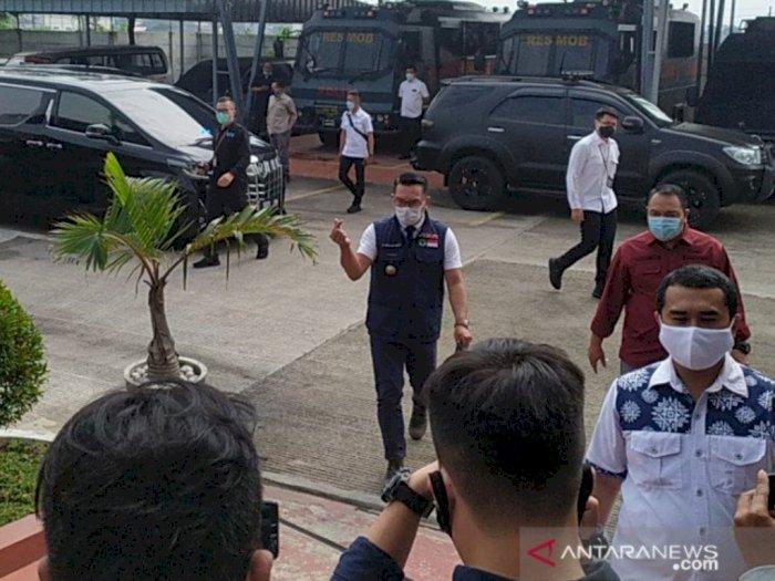 Ridwan Kamil Penuhi Panggilan Polda Jabar Terkait Kerumunan Habib Rizieq di Megamendung