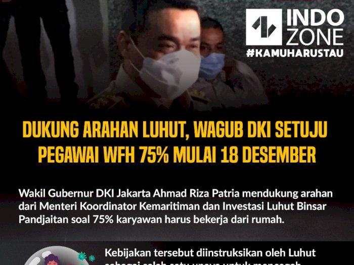 Wagub DKI Setuju Pegawai WFH 75% Mulai 18 Desember