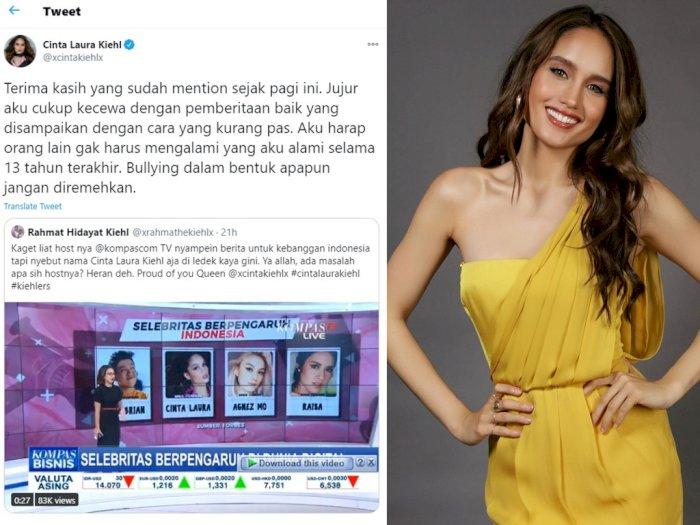 Merasa Diledek Presenter TV, Cinta Laura Ngamuk di Twitter dan Singgung Soal Bullying