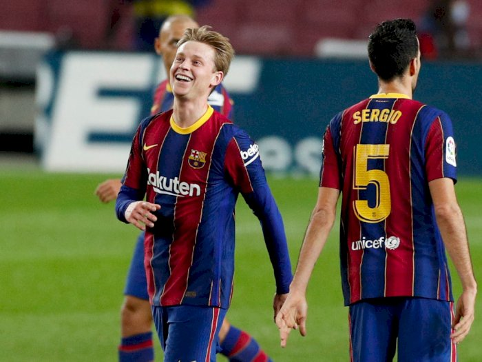 Frenkie de Jong Jadi Pemain Terbaik di Laga Barcelona Vs Real Sociedad
