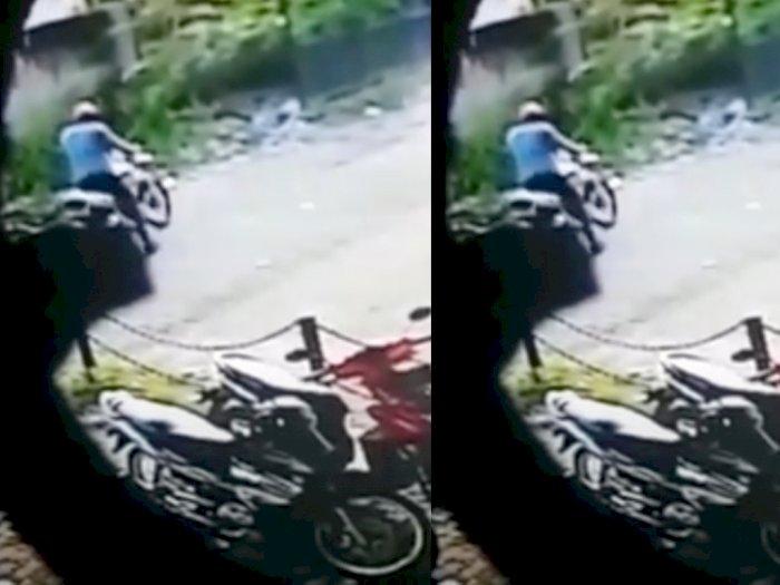 Beredar Video Rekaman CCTV Seorang Oknum Advokat Terlibat Pencurian Motor di Medan