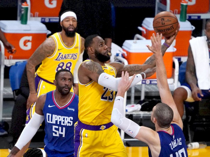 FOTO: Lakers Tumbang 109-116 Melawan LA Clippers
