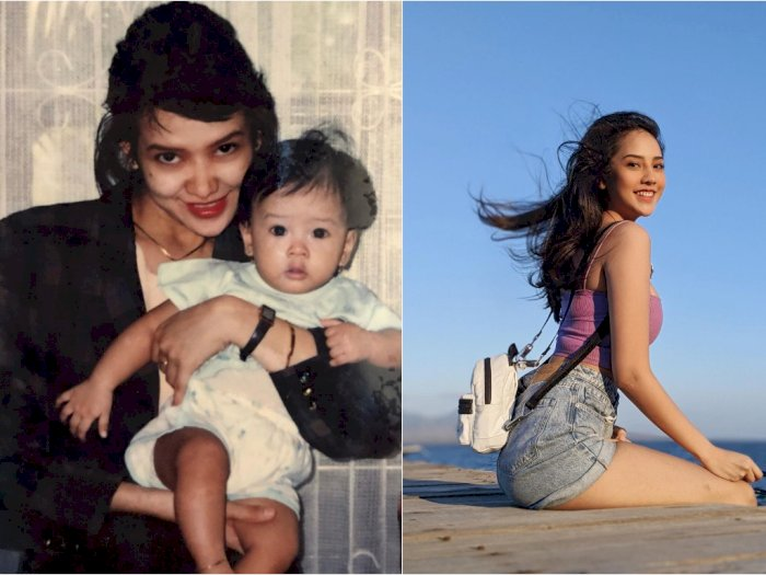 Unggah Foto Jadul, Pesona Ibu Anya Geraldine Curi Perhatian Netizen: Bibitnya Udah Cantik
