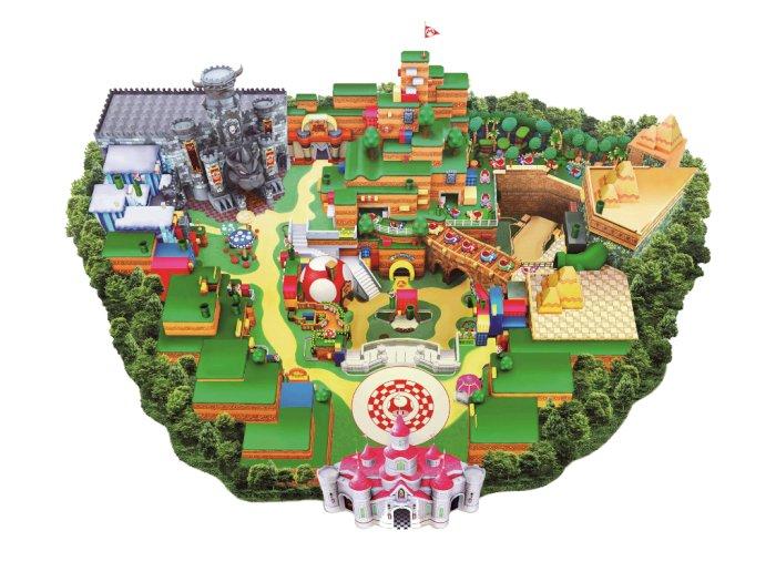 Seperti Ini Peta dari Taman Hiburan Super Nintendo World di USJ!