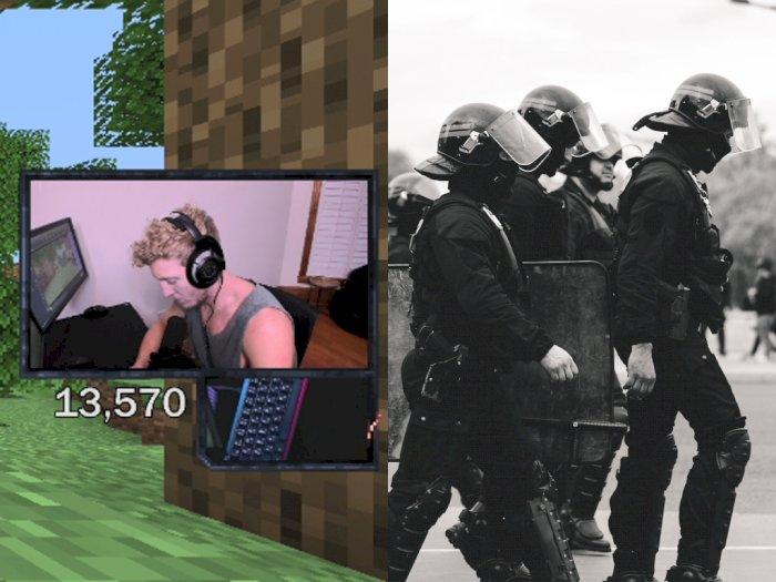 Sedang Asik Main Minecraft, Streamer Tfue Digerebek oleh Polisi