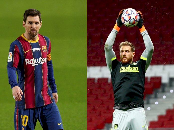 Messi Sanjung Jan Oblak: Dia Termasuk Kiper Terbaik Dunia Masa Kini!