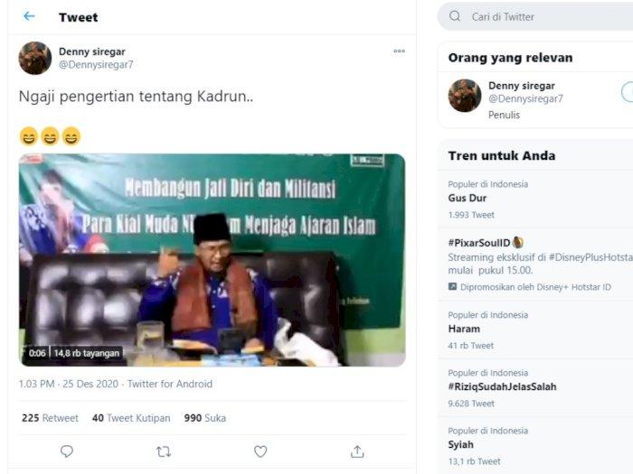 Denny Siregar Berkicau di Twitter: Ngaji Pengertian tentang Kadrun