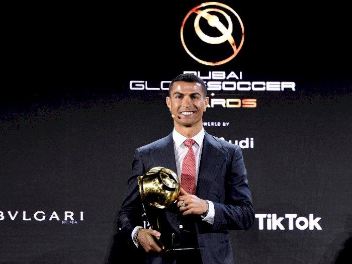 Selamat! Cristiano Ronaldo Menangkan Penghargaan Pemain Terbaik Abad Ini, Kalahkan Messi