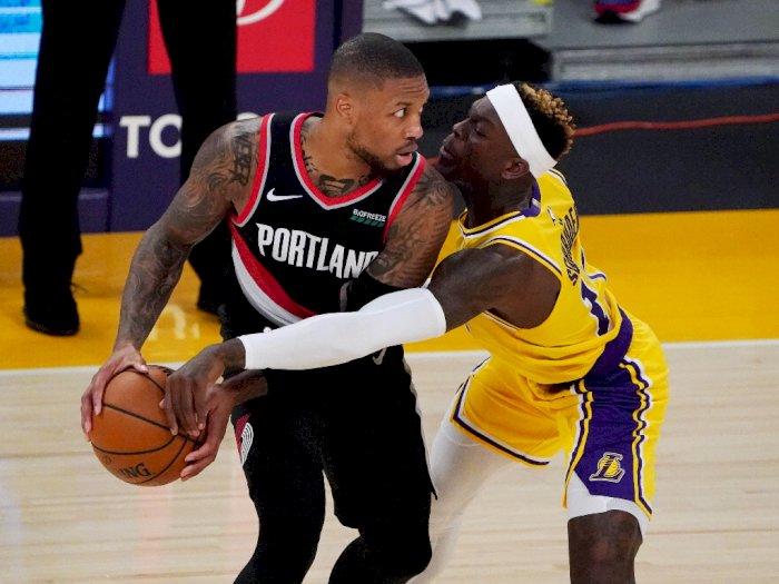 FOTO: Los Angeles Lakers Kalah 107-115 dari Portland Trailer Blazers