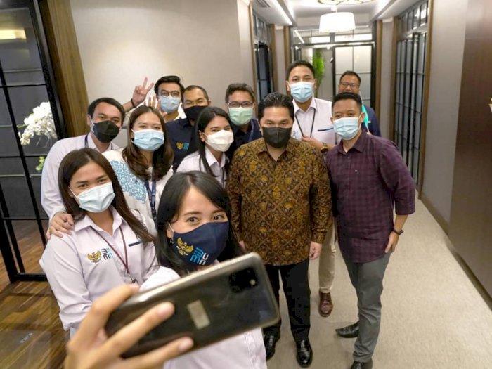 Erick Thohir Buka Kesempatan Teman-teman BUMN Dapat Bekerja di Kementerian