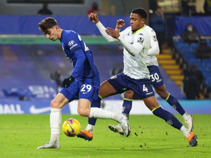 FOTO: Liga Inggris, Chelsea Ditahan Imbang 1-1 Aston Villa