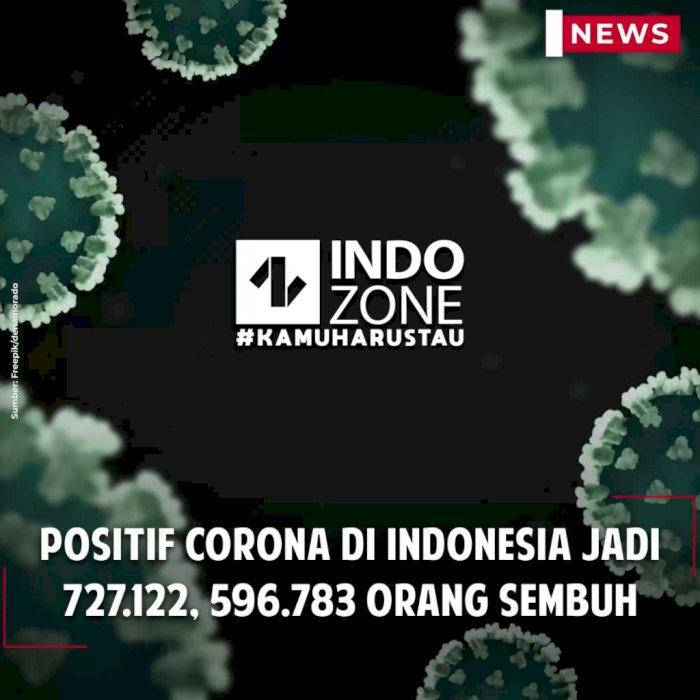 Positif Corona di Indonesia Jadi 727.122, 596.783 Orang Sembuh