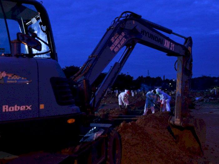 FOTO: Penambahan Lahan Pemakaman Khusus COVID-19