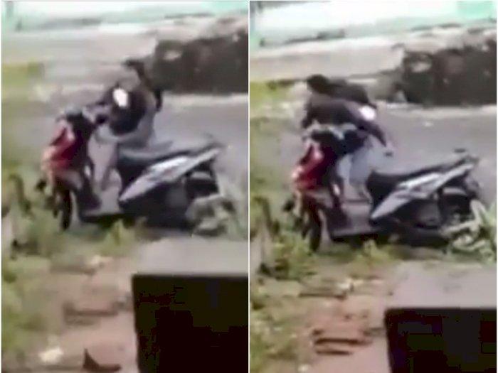 Video Maling Gagal Curi Motor Karena Dipergoki dan Diteriaki Maling oleh Pemiliknya