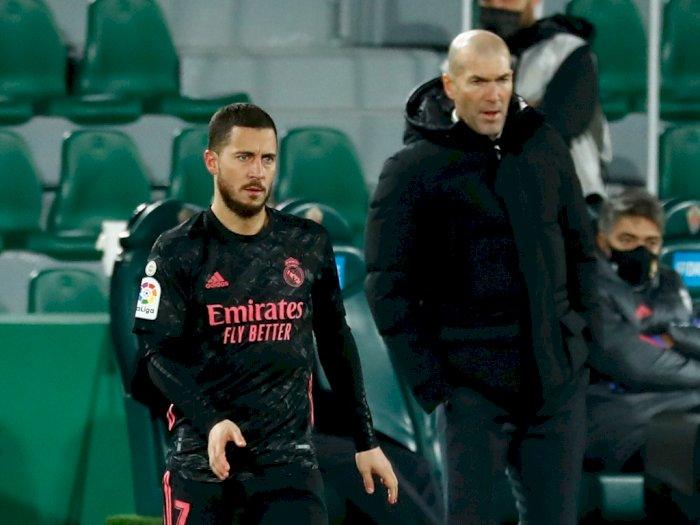 Elche Vs Real Madrid Berakhir Imbang, Zidane: Hazard Sabar Dulu