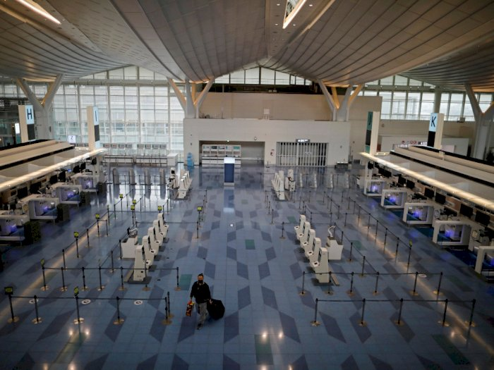 Bandara Haneda di Tokyo Jadi Sepi Karena Covid-19