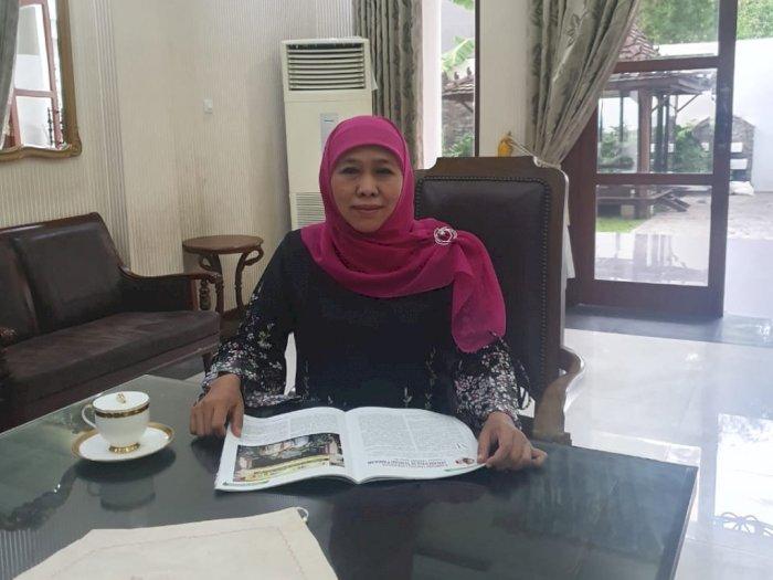 Terkonfirmasi Positif Covid, Gubernur Jatim Khofifah: Jangan pernah Sepelekan Virus Ini