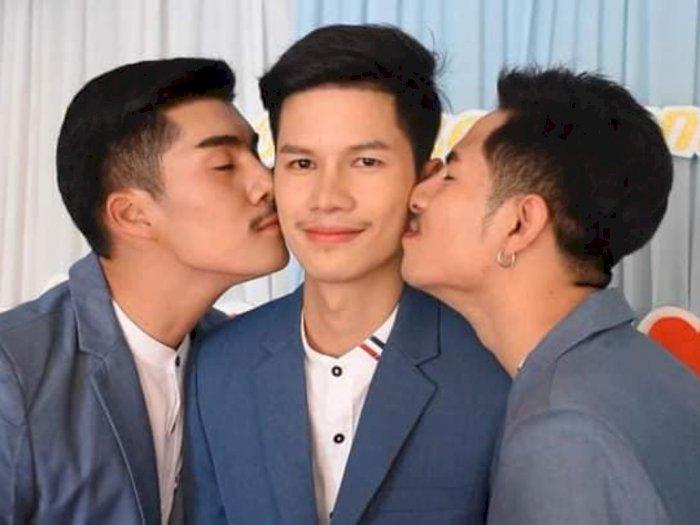 Geger Cinta Segitiga 3 Pria di Thailand, Nikah Bareng Bertiga, Direstui Orang Tua