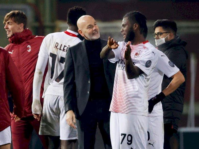 FOTO: Liga Italia, AC Milan Permalukan Tuan Rumah Benevento 2-0