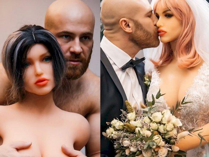 Binaragawan yang Nikahi Boneka Seksnya Sedang Sedih karena 'Istrinya' Rusak