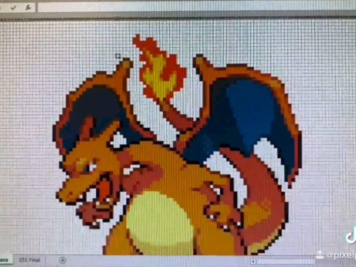 Gamer Ini Buat 151 Karakter Pokémon Generasi ke-1 di Microsoft Excel!
