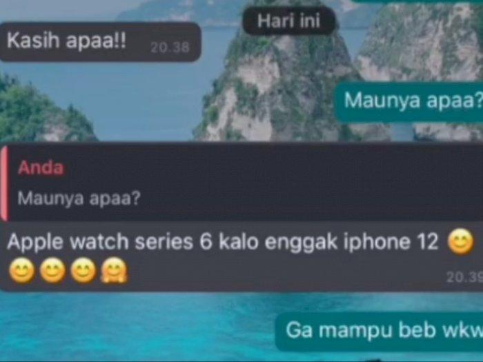 Viral Cewek Diplorotin Pacar, Minta Apple Watch dan iPhone 12, Tak Dikasih Langsung Blokir
