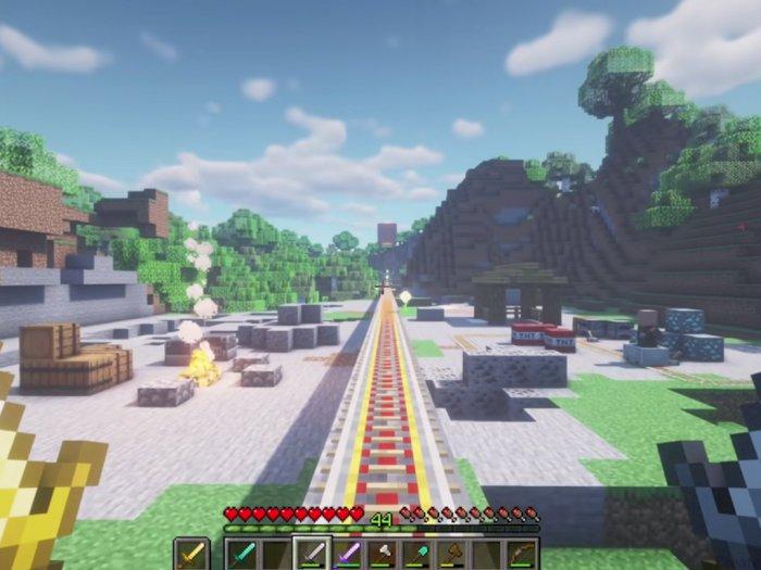 Seperti Ini Jadinya Ketika Game Minecraft dan Game Beat Saber Bersatu!