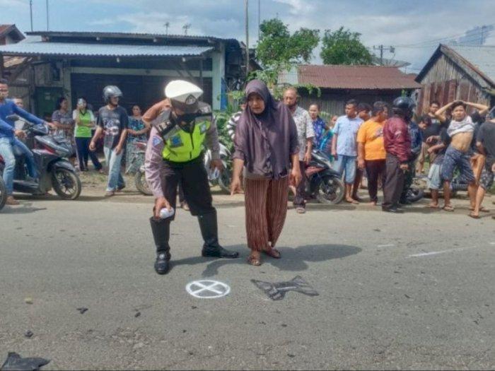 2 Motor Terlibat Laga Kambing di Jalan Lintas Simalungun, Seorang Tewas di Tempat Kejadian