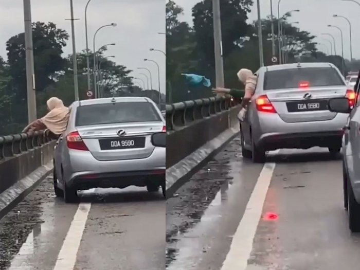 Seorang Wanita Tertangkap Kamera Membuang Sampah Sembarangan, Aksinya Bikin Netizen Kesal
