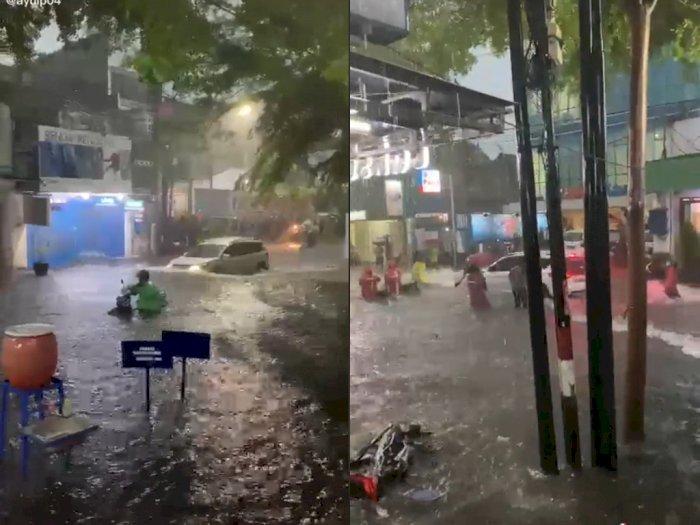 Viral Mobil Terobos Banjir dan Bikin Gelombang Air,  Berujung Digeruduk Warga