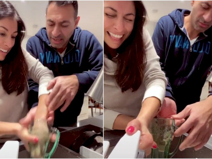 Istri Prank Suami, Tangannya Pura-Pura Tersangkut dalam Gelas, Endingnya Bikin Ngakak