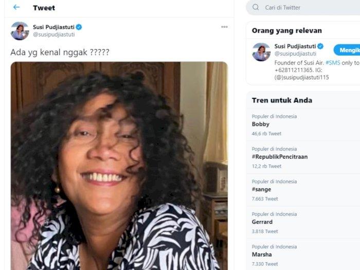 Susi Pudjiastuti Pamer Foto Rambut Keriting, Netizen Sebut Mirip Candil Seurius Band