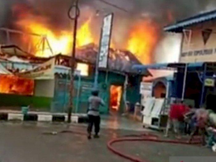 Sebuah Warung Makan di Tanjung Balai Ludes Terbakar, Kerugian Capai Ratusan Juta Rupiah