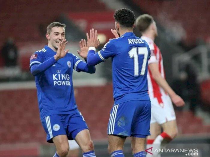 Leicester City Lolos ke Putaran Keempat Piala FA Setelah Kalahkan Stoke City 4-0