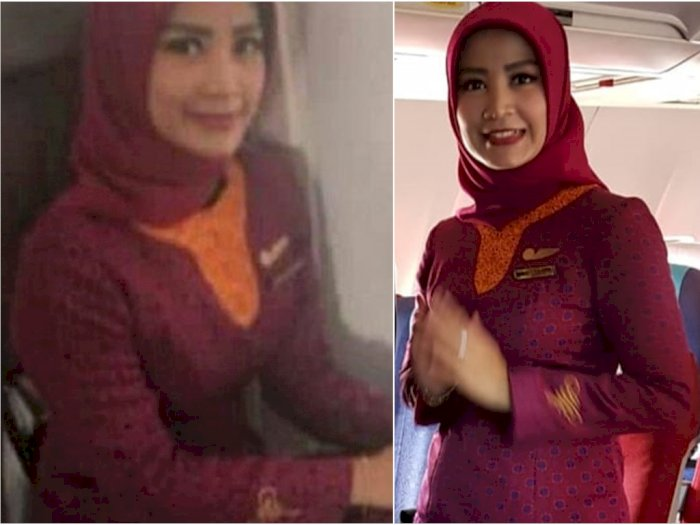 Sosok Gita Lestari, Pramugari Sriwijaya Air yang Berhijab, Ucap Bismillah Sebelum Terbang