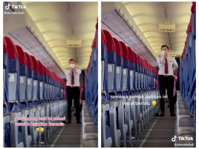 Pasca-Jatuhnya Pesawat SJ-182, Beredar Video Pesawat Sriwijaya Sepi Penumpang