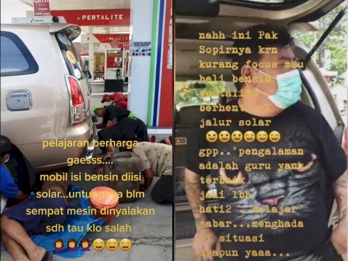 Viral Mobil Salah Isi Bahan Bakar, Berujung Kuras Tangki di SPBU