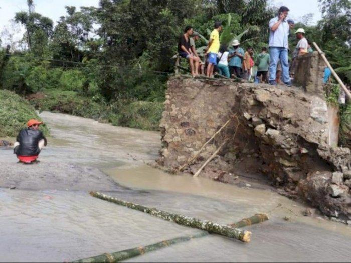 3 Jembatan di Simalungun Alami Kerusakan Akibat Dilanda Hujan Deras Semalaman