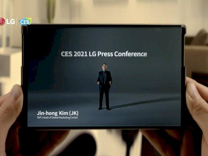 LG Diam-Diam Pamerkan Smartphone Gulung Buatannya di Event CES 2021!