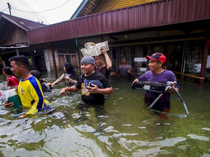 FOTO: Banjir Luapan Sungai Bati Bati di  Kalimantan Selatan