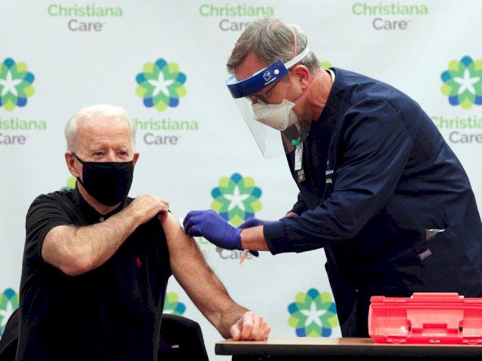 Joe Biden Terima Suntikan Kedua Vaksin COVID-19, Jelang Pelantikan Presiden AS