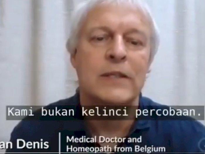 Video Pernyataan Dokter Belgia Menolak Vaksin Corona: Kami bukan Kelinci Percobaan