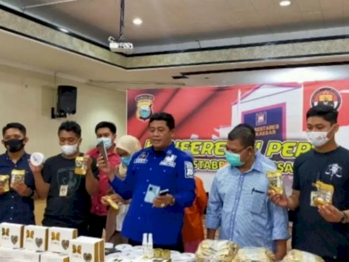 Polisi Berhasil Bongkar Peredaran Belasan Ribu Kosmetik Ilegal di Makassar