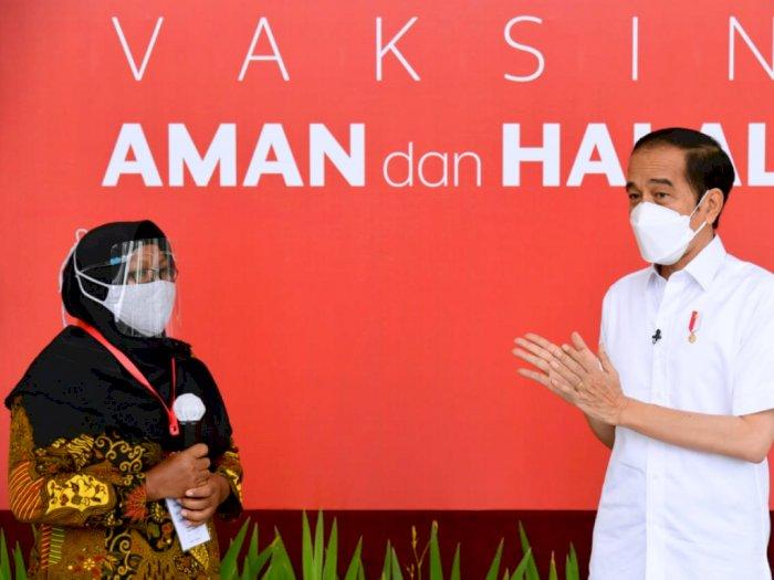 Ternyata Ada Pedagang Sayur Turut Divaksinasi COVID-19 Perdana Bersama Jokowi di Istana