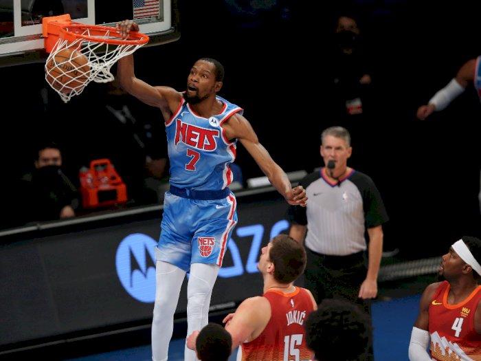 FOTO: Kevin Durant Cetak 34 Angka, Nets vs Nuggets 122-116
