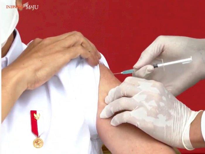 Presiden Jokowi Sudah Disuntik Vaksin Covid-19