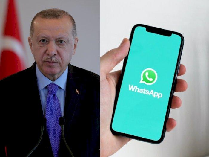 Presiden Turki Desak Warganya Tinggalkan WhatsApp, Beralih ke Aplikasi Lokal