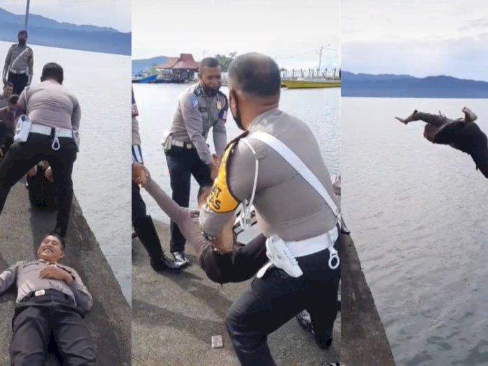 Lempar Polisi ke Laut Jadi Tradisi Unik Kenaikan Pangkat di Maluku Utara