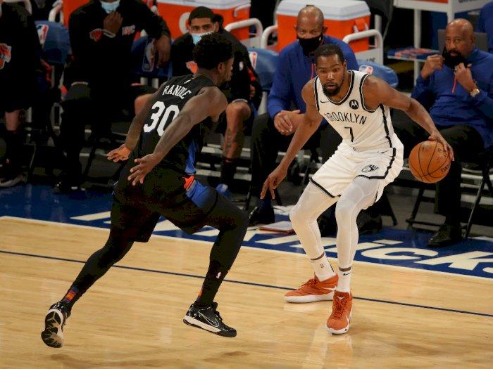 FOTO: Kevin Durant Kembali Bawa Nets Kalahkan Knicks, 116-109