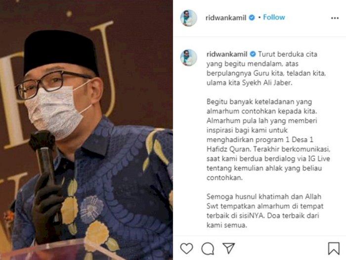 Syekh Ali Jaber Wafat, Ridwan Kamil: Keteladanannya Akan Kami Jadikan Pegangan Hidup